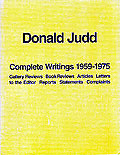 Donald Judd Complete Writing 1959-1975