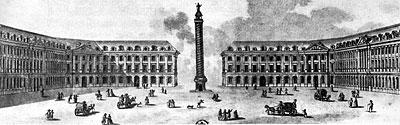 革命後のヴァンドーム広場