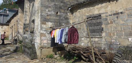 198 西河村の伝統的風景